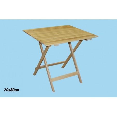 Tavolo Piegh.legno Nat.70x80cm