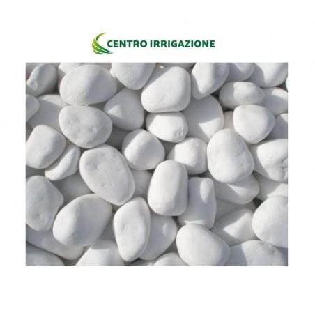Bianco Carrara Mis.15/25mm Sacchetto Da 25kg Ciottolo