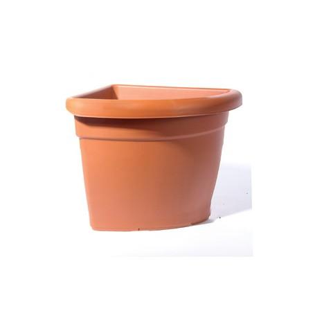 Vaso Angolare Giasone Iniezione 45x45x H40 Colore Marrone