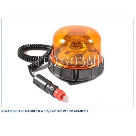 Pegasus Base Magnetica 12/24v H21w 12v Arancio