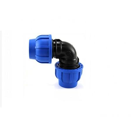 Gomito 90° Compressione Irrigazione Pe Tubo Curva