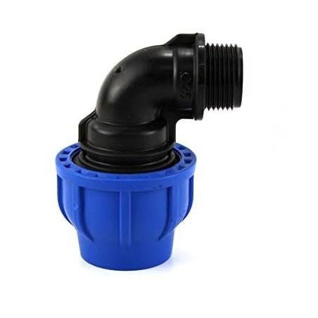 Gomito Maschio Compressione Irrigazione Tubo Curva