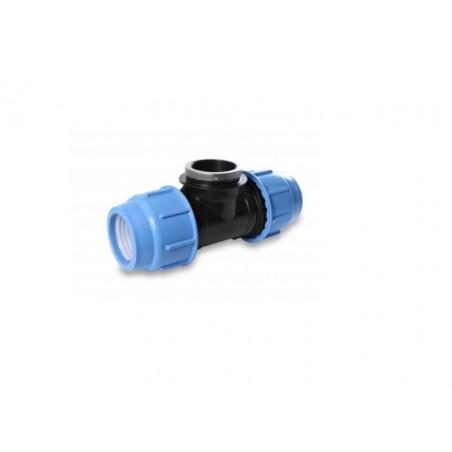 Tee 90° Femmina Compressione Irrigazione Tubo 3vie