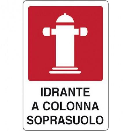 """Cart. Indic.""""idrante Soprasuolo"""" 25x31 Cm"""