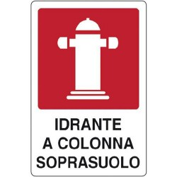CART. INDIC.IDRANTE SOPRASUOLO 25X31 CM