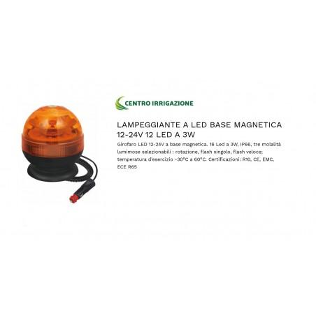 Lampeggiante Led Base Magnetica Basso 12/24