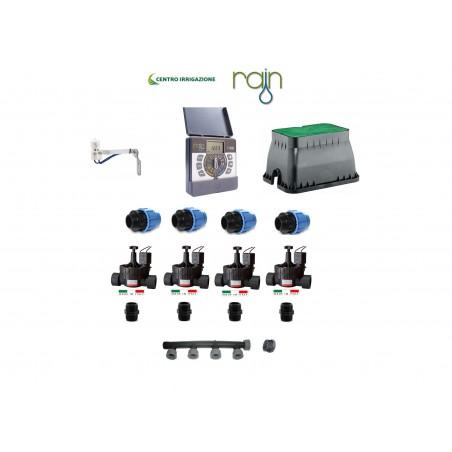 Kit Irrigazione Rain 4 Kit Irrigazione Rain 4 Stazioni Centralina Elettrovalvole Pozzetto