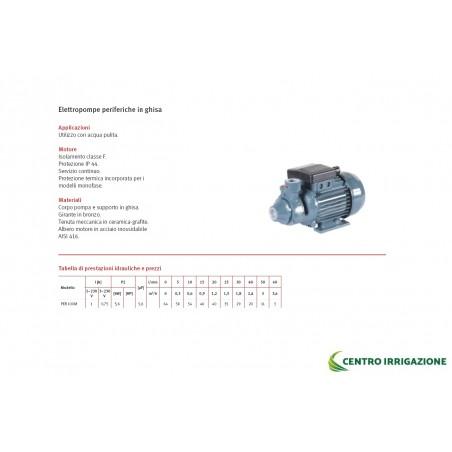ELETTROPOMPA PERIFERICA GHISA HP 1.0