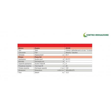 MOTOPOMPA BENZ.*97.7CC(2,2HP) *133L/M *USC.1