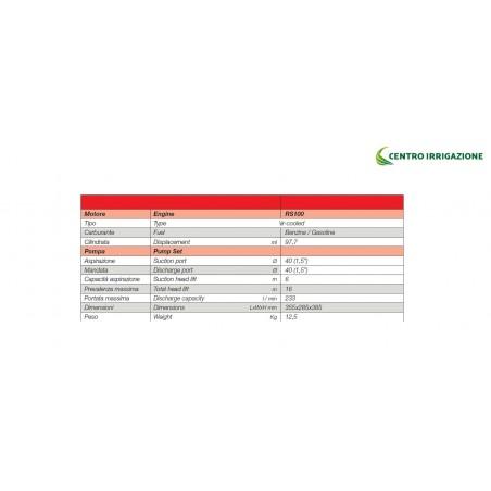 MOTOPOMPA BENZ.*97.7CC(2,2HP) *233L/M *USC.11/2