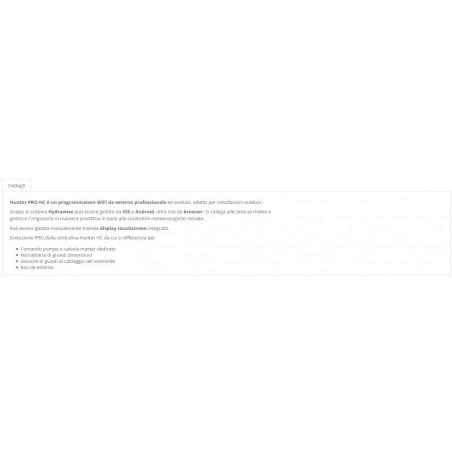 PROGRAMMATORE HUNTER PHC-601.E 12ZONE OUTDOOR WIFI